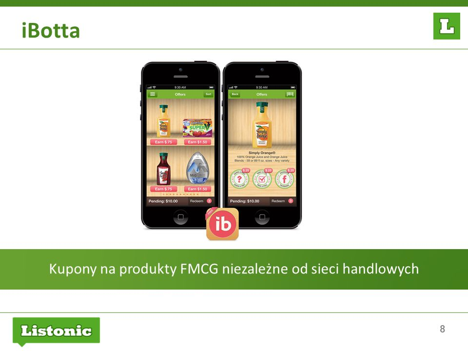 8 iBotta Kupony na produkty FMCG niezależne od sieci handlowych