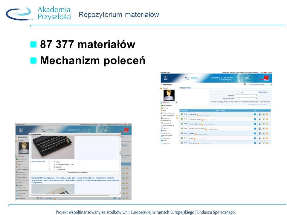 Repozytorium materiałów 87 377 materiałów Mechanizm poleceń