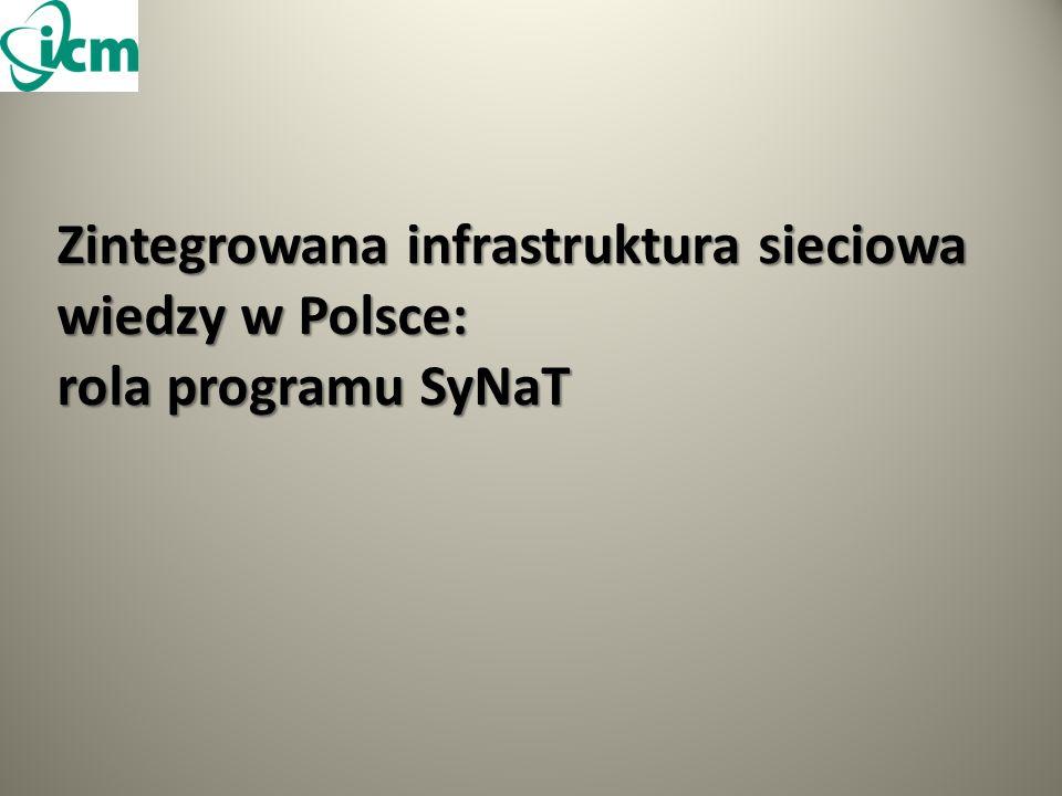 Zintegrowana infrastruktura sieciowa wiedzy w Polsce: rola programu SyNaT