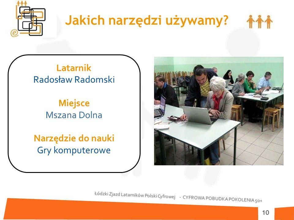 Łódzki Zjazd Latarników Polski Cyfrowej - CYFROWA POBUDKA POKOLENIA 50+ 10 Jakich narzędzi używamy.