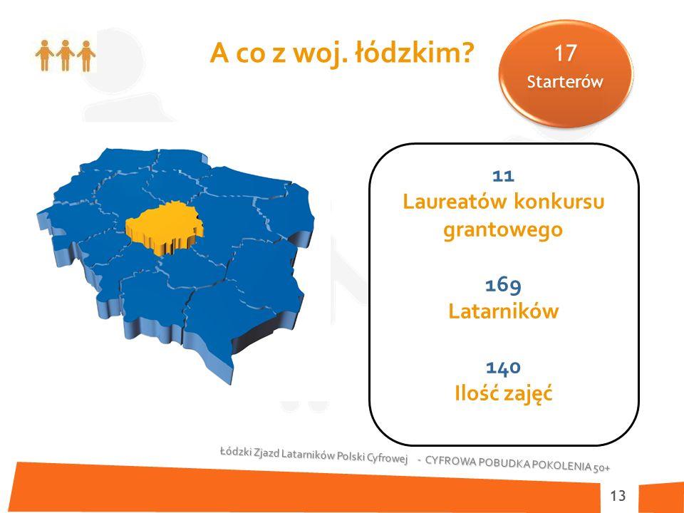 Łódzki Zjazd Latarników Polski Cyfrowej - CYFROWA POBUDKA POKOLENIA 50+ 13 A co z woj.