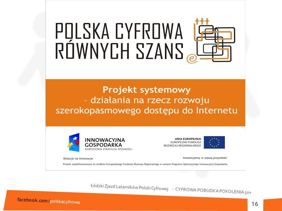 Łódzki Zjazd Latarników Polski Cyfrowej - CYFROWA POBUDKA POKOLENIA 50+ facebook.com/polskacyfrowa 16
