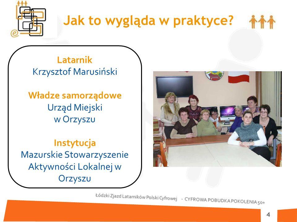 Łódzki Zjazd Latarników Polski Cyfrowej - CYFROWA POBUDKA POKOLENIA 50+ 4 Jak to wygląda w praktyce.