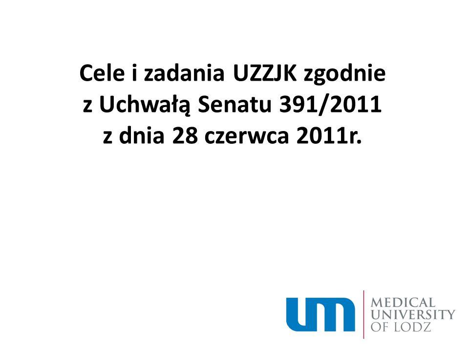Zmiany w zasadach i procedurach doskonalenia jakości procesu dydaktycznego WZZJK: gromadzi propozycje zmian dotyczące programów nauczania, zgłaszane przez pracowników, studentów i inne osoby (§ 26 Regulaminu Pracy UZZJK i WZZJK) do 15 listopada analizuje protokoły pokontrolne agencji akredytacyjnych analizuje gromadzone raporty i zestawienia, dotyczące jakości kształcenia w UM w Łodzi dokonuje corocznego przeglądu zasad i procedur doskonalenia jakości procesu dydaktycznego zgłasza Dziekanowi i UZZJK propozycje zmian w zasadach zapewnienia jakości kształcenia do dnia 15 października Sprawozdanie: WZZJK sporządza, zgodnie z wytycznymi UZZJK, sprawozdanie z oceny własnej, stanowiace wynik ewaluacji jakosci kształcenia na Wydziale i przedstawia je Dziekanowi oraz UZZJK (§ 11 p.