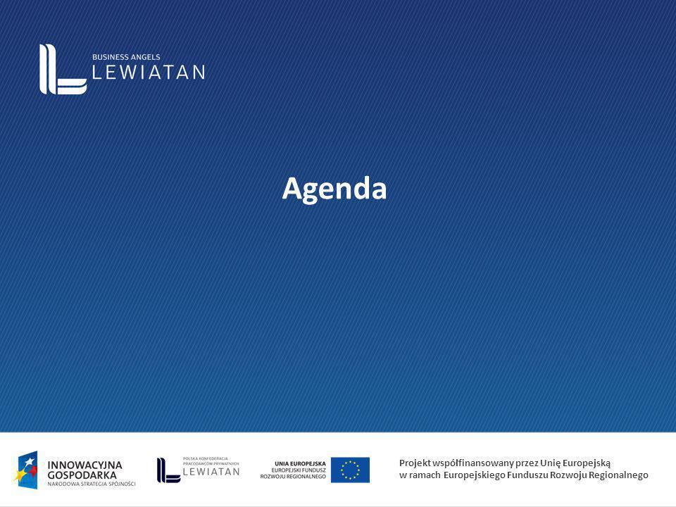 Projekt współfinansowany przez Unię Europejską w ramach Europejskiego Funduszu Rozwoju Regionalnego Agenda