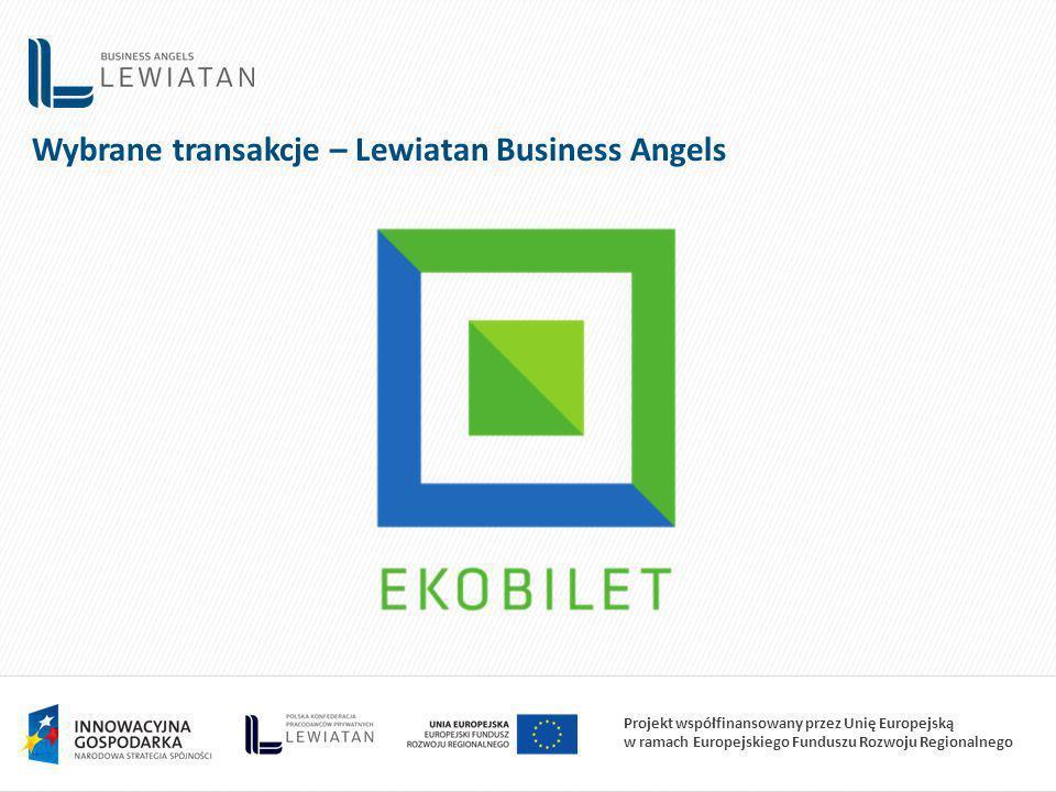 Projekt współfinansowany przez Unię Europejską w ramach Europejskiego Funduszu Rozwoju Regionalnego Wybrane transakcje – Lewiatan Business Angels