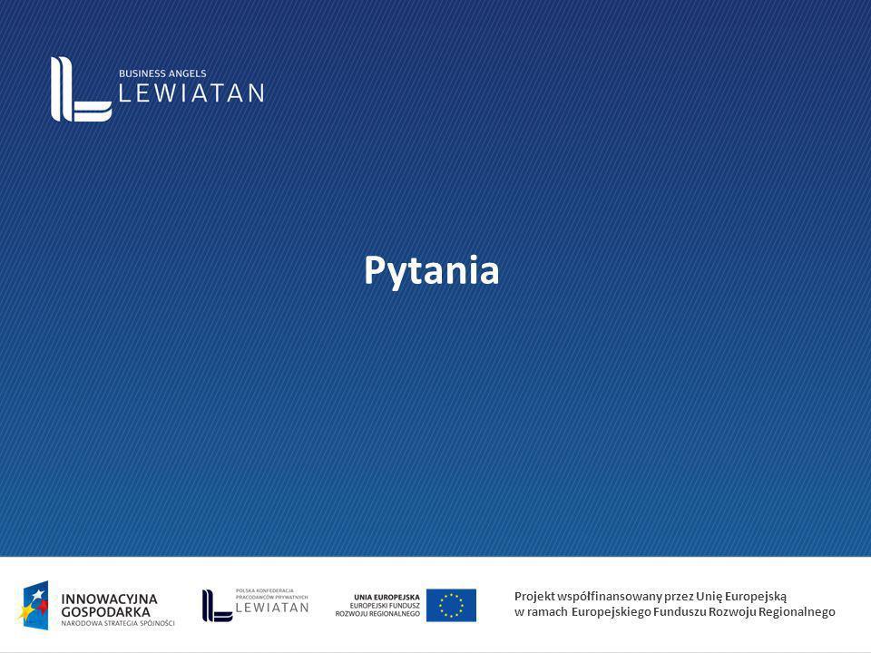 Projekt współfinansowany przez Unię Europejską w ramach Europejskiego Funduszu Rozwoju Regionalnego Pytania