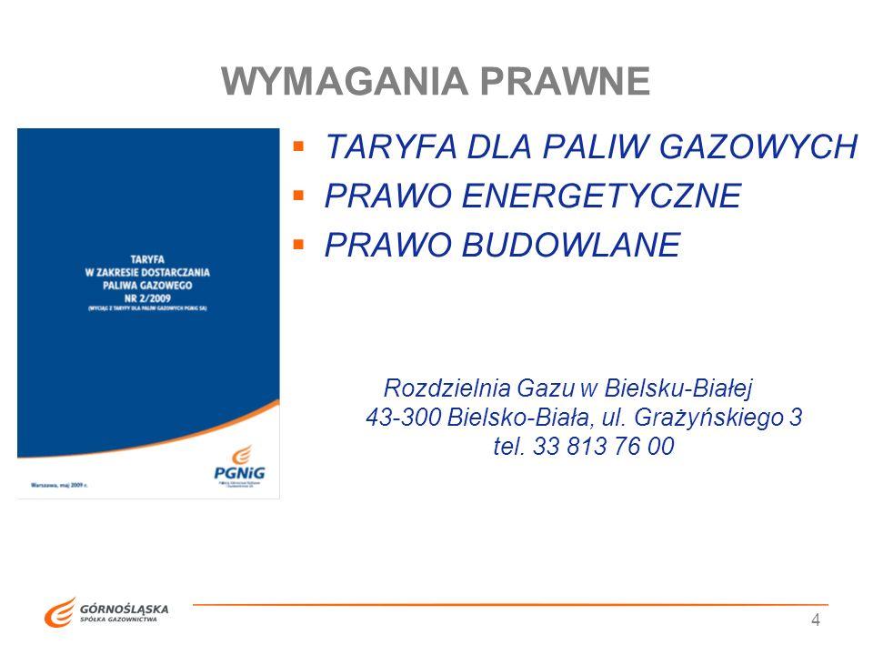5 Koszty przyłączenia do sieci gazowej Opłata ryczałtowa za budowę przyłącza w warunkach standardowych do 15 mb Stawka opłaty za przyłączenie za każdy metr przyłącza Powyżej 15 mb Netto,1701,24 złNetto 69,31 zł Z VAT 2092,53 złZ VAT 85,25 zł TARYFA DLA PALIW GAZOWYCH