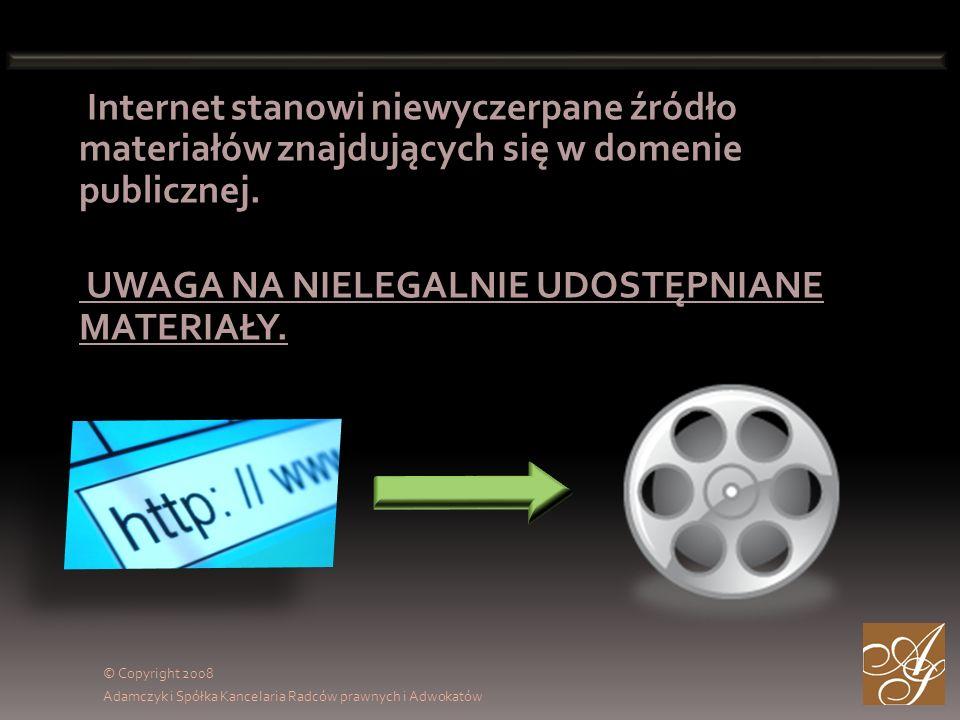 Internet stanowi niewyczerpane źródło materiałów znajdujących się w domenie publicznej.