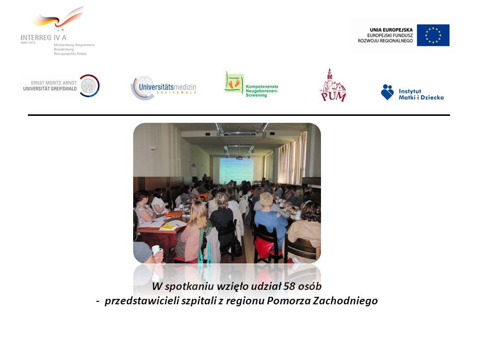 W spotkaniu wzięło udział 58 osób - przedstawicieli szpitali z regionu Pomorza Zachodniego