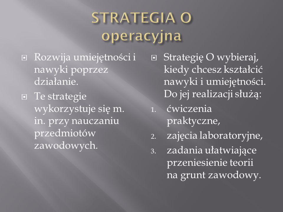 W tej strategii mamy do czynienia z uczeniem się przy pomocy rozwiązywania problemów. Zakłada ona, że droga przyswajania wiedzy jest samodzielne dokon