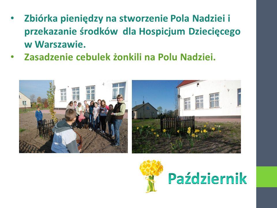 Zbiórka pieniędzy na stworzenie Pola Nadziei i przekazanie środków dla Hospicjum Dziecięcego w Warszawie.