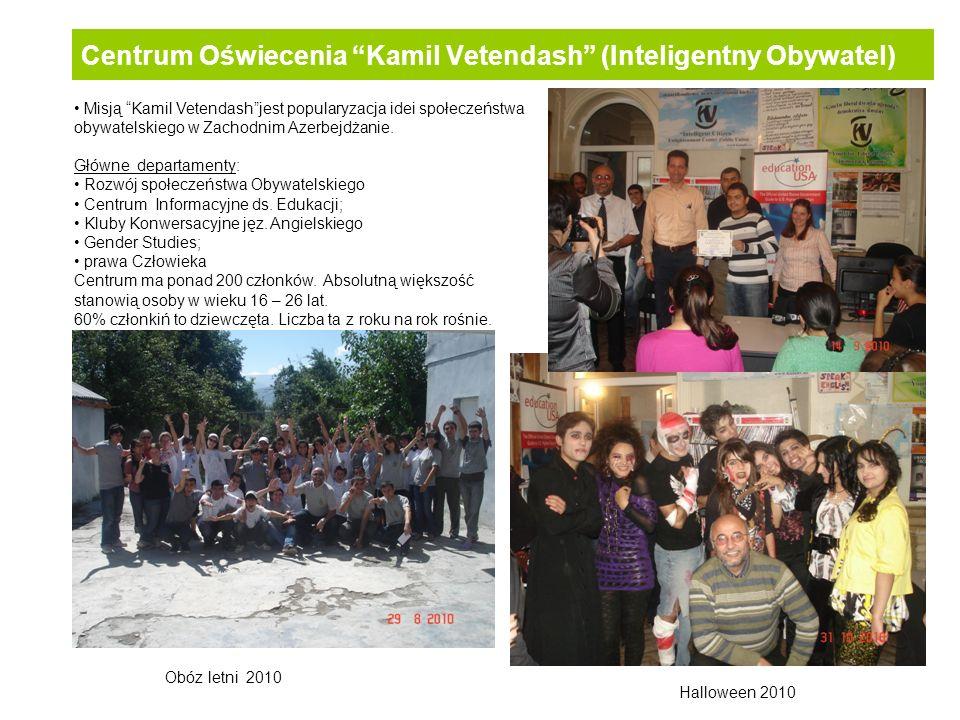 Centrum Oświecenia Kamil Vetendash (Inteligentny Obywatel) Misją Kamil Vetendashjest popularyzacja idei społeczeństwa obywatelskiego w Zachodnim Azerb