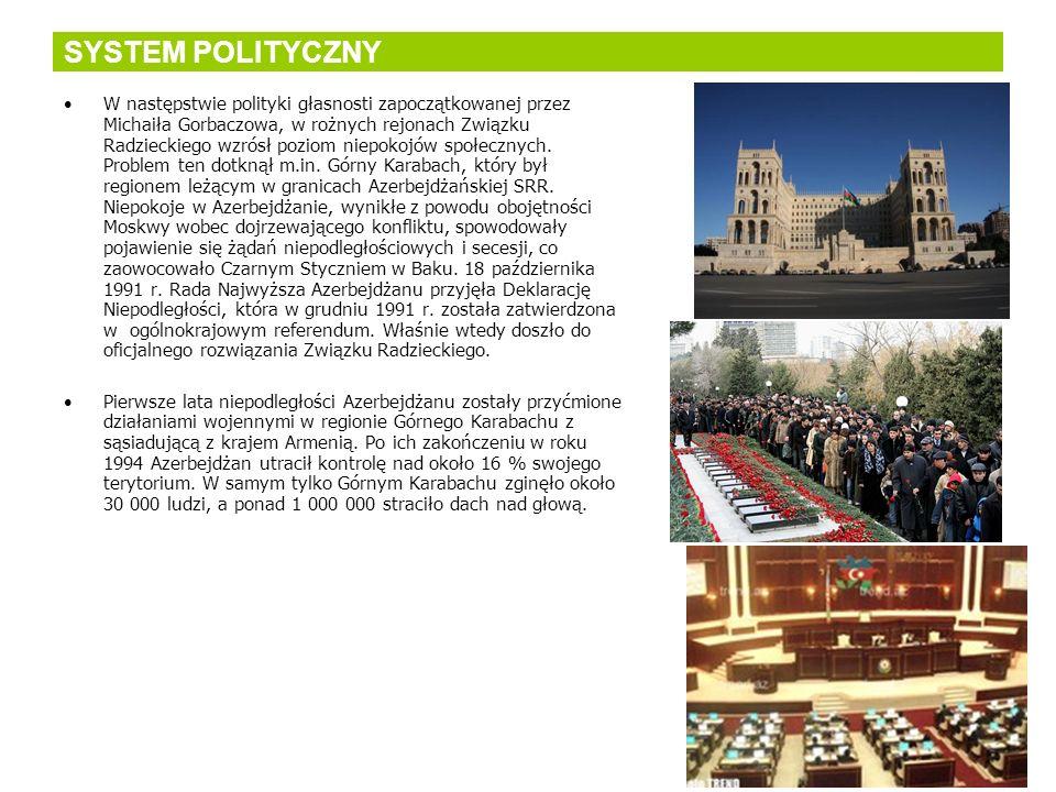 SYSTEM POLITYCZNY W następstwie polityki głasnosti zapoczątkowanej przez Michaiła Gorbaczowa, w rożnych rejonach Związku Radzieckiego wzrósł poziom ni
