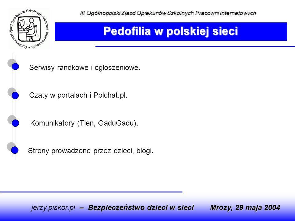 Serwisy randkowe i ogłoszeniowe. Czaty w portalach i Polchat.pl. Komunikatory (Tlen, GaduGadu). Strony prowadzone przez dzieci, blogi. – Bezpieczeństw