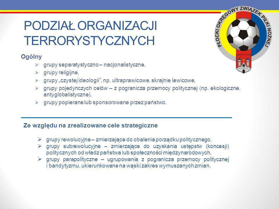 ZADANIA POLICJI W ZWALCZANIU PRZESTĘPCZOŚCI STADIONOWEJ Powołane zespoły ds.