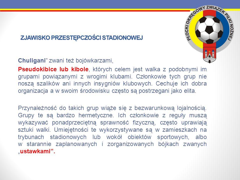 FAKTYCZNE SKUTKI PRAWNE JAKIE PONOSZĄ OSOBY NARUSZAJĄCE USTALONY PORZĄDEK PRAWNY PODCZAS MECZÓW PIŁKI NOŻNEJ W PORÓWNANIU ANGLII I POLSKI Polska Kara za wbiegniecie na boisko – przeważnie żadna szczególnie w meczach niższych lig, chyba że zostanie zatrzymany na miejscu i policja ukarze go w trybie mandatowym Kara za bójkę stadionową i niszczenie obiektu – w przypadku prowadzenia postępowania przygotowawczego kara po kilku miesiącach od popełnienia czynu, zakaz stadionowy (ale tylko na mecze ligowe), Złamanie zakazu stadionowego, niestawienie się na policji – teoretycznie grzywna, ograniczenie wolności, areszt, Kara dla klubu za niezapewnienie bezpieczeństwa – do 100 tyś.