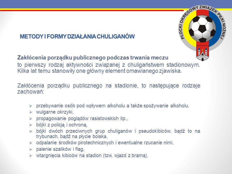 METODY I FORMY DZIAŁANIA CHULIGANÓW Jeszcze w latach 90.