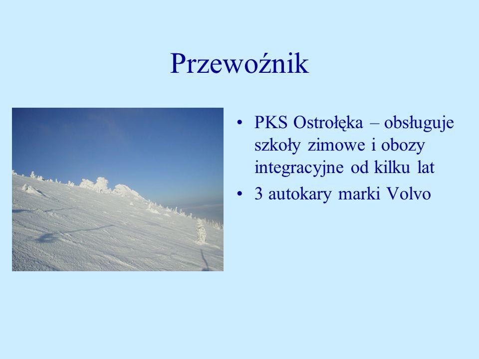 Przewoźnik PKS Ostrołęka – obsługuje szkoły zimowe i obozy integracyjne od kilku lat 3 autokary marki Volvo