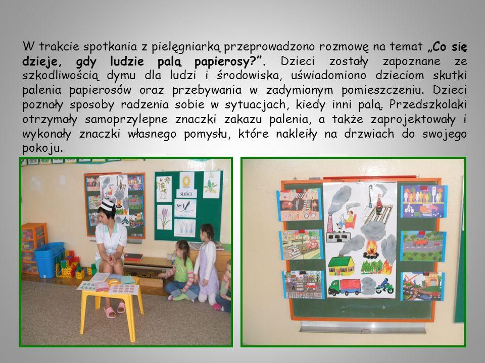 Dzieci miały możliwość określania zapachów miłych i nieprzyjemnych dla nich.