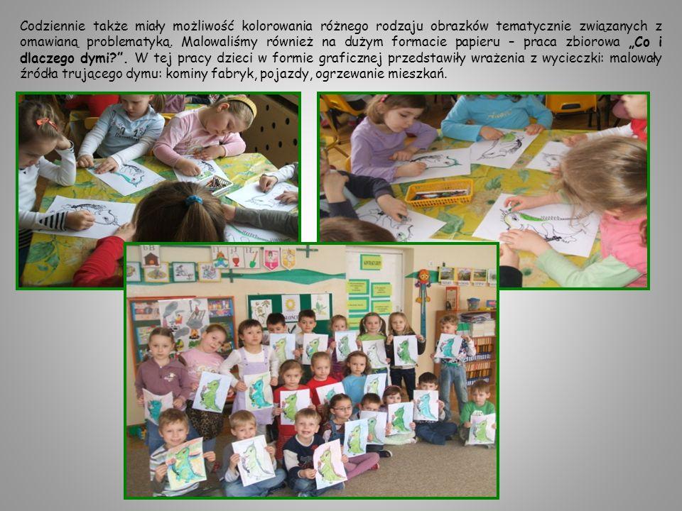 Zadaniem dzieci było także wykonanie plakatów Brzydki świat plakatów Zielony świat.