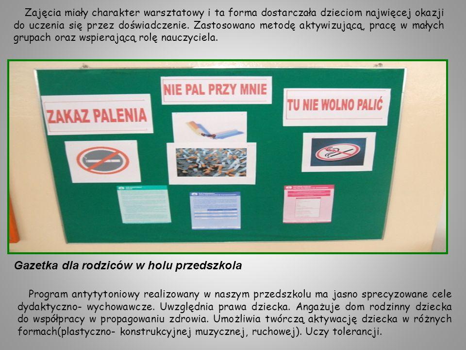 Podsumowaniem cyklu zajęć był quiz z udziałem dzieci z grup Plastusie i Plastelinki, w którym dzieci mogły pochwalić się zdobytymi nowymi wiadomościami na temat profilaktyki antynikotynowej.