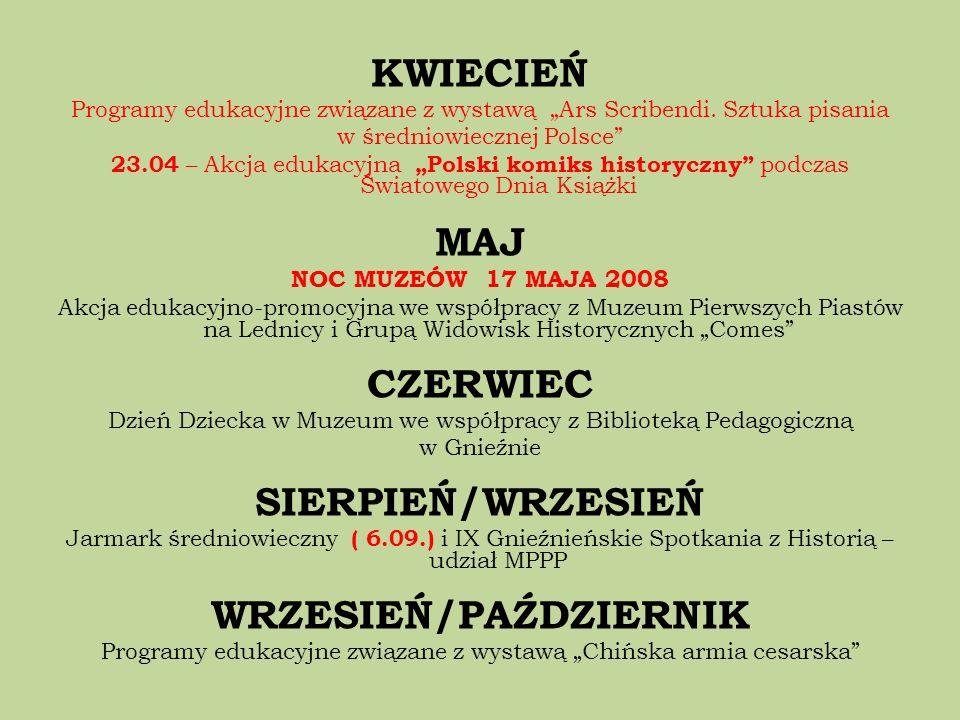 KWIECIEŃ Programy edukacyjne związane z wystawą Ars Scribendi. Sztuka pisania w średniowiecznej Polsce 23.04 – Akcja edukacyjna Polski komiks historyc