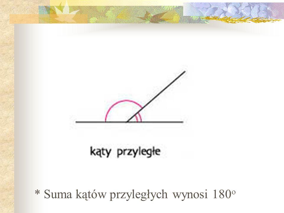 Cecha KBK- kąt bok kąt Bok i dwa kąty leżące przy tym boku w jednym trójkącie są równe odpowiedniemu bokowi i kątom w drugim trójkącie.