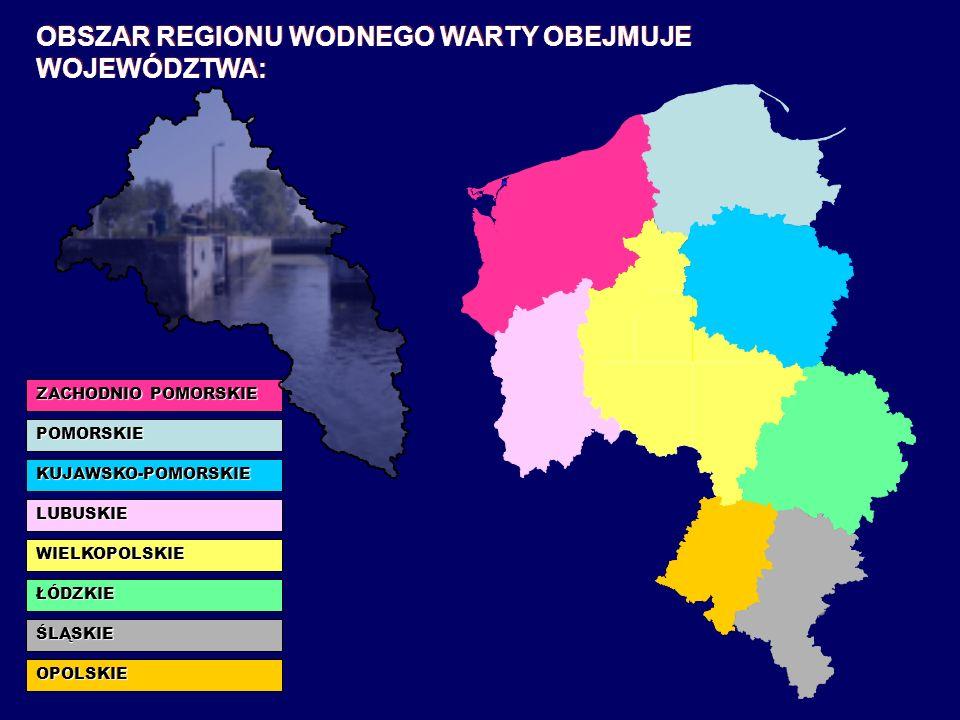 KUJAWSKO-POMORSKIE na długości 153,5 km LUBUSKIE na długości 99,7 km WIELKOPOLSKIE na długości 356,5 km PĘTLA WIELKOPOLSKA PRZEPŁYWA PRZEZ TERENY TRZECH WOJEWÓDZTW: