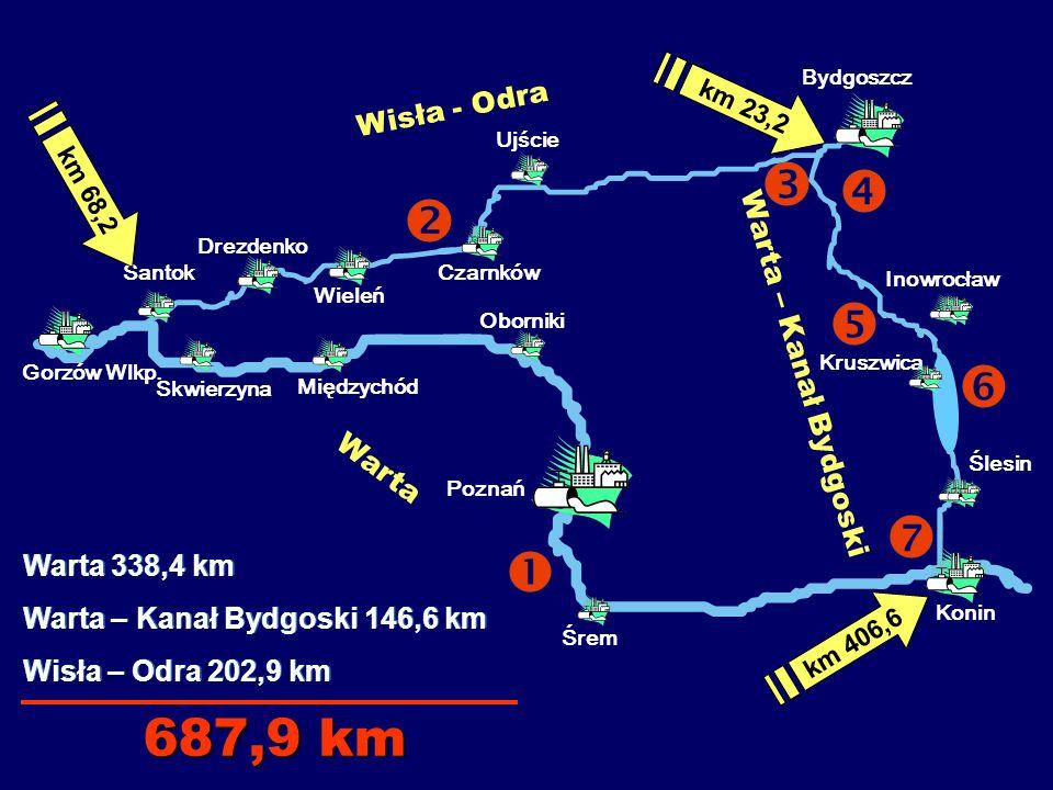 Dogodne miejsca do cumowania znajdują się również: - przy nabrzeżu betonowym w km 402,88 b.l.