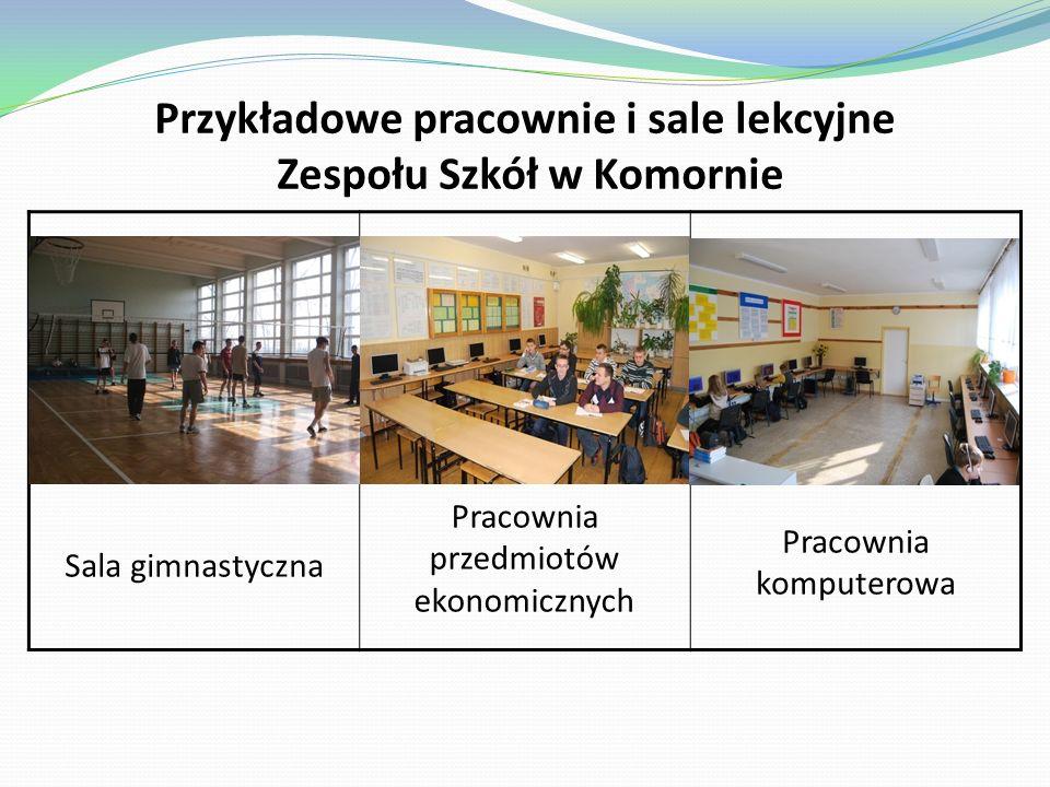 Budynki szkolne Budynek główny szkoły posiada 16 przestronnych, dobrze wyposażonych w sprzęt i pomoce dydaktyczne sal lekcyjnych, salę gimnastyczną oraz pomieszczenia administracyjno – biurowe.