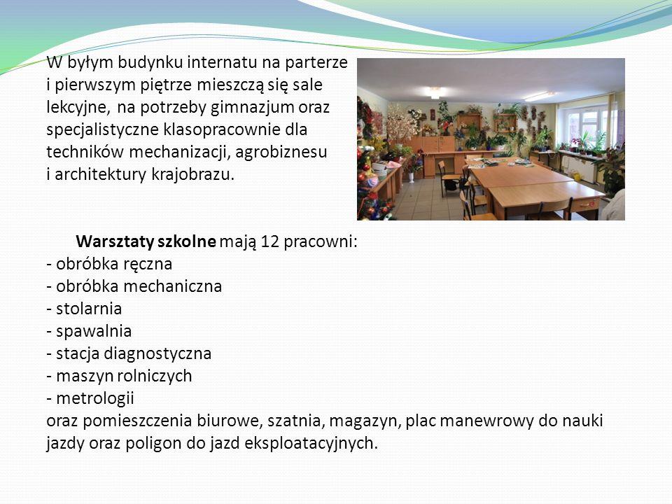 Przykładowe pracownie i sale lekcyjne Zespołu Szkół w Komornie Sala gimnastyczna Pracownia przedmiotów ekonomicznych Pracownia komputerowa