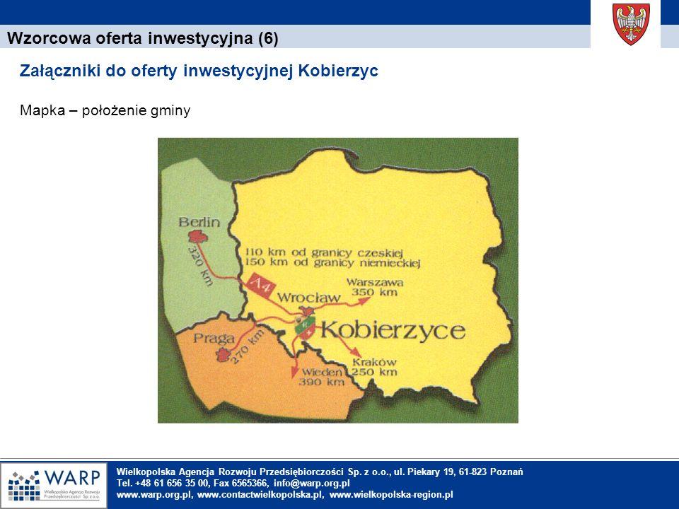 1. Einleitung Wzorcowa oferta inwestycyjna (6) Załączniki do oferty inwestycyjnej Kobierzyc Mapka – położenie gminy Wielkopolska Agencja Rozwoju Przed