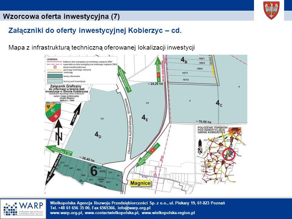 1. Einleitung Wzorcowa oferta inwestycyjna (7) Załączniki do oferty inwestycyjnej Kobierzyc – cd. Mapa z infrastrukturą techniczną oferowanej lokaliza