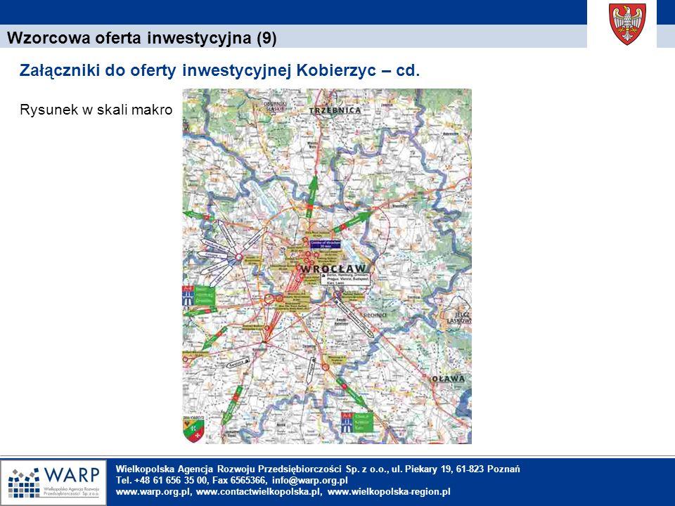 1. Einleitung Wzorcowa oferta inwestycyjna (9) Załączniki do oferty inwestycyjnej Kobierzyc – cd. Rysunek w skali makro Wielkopolska Agencja Rozwoju P