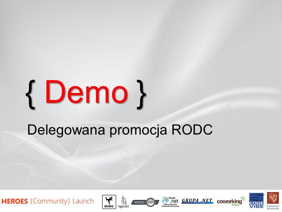 { Demo } Delegowana promocja RODC