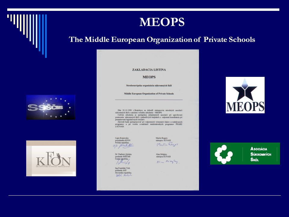 MEOPS The Middle European Organization of Private Schools
