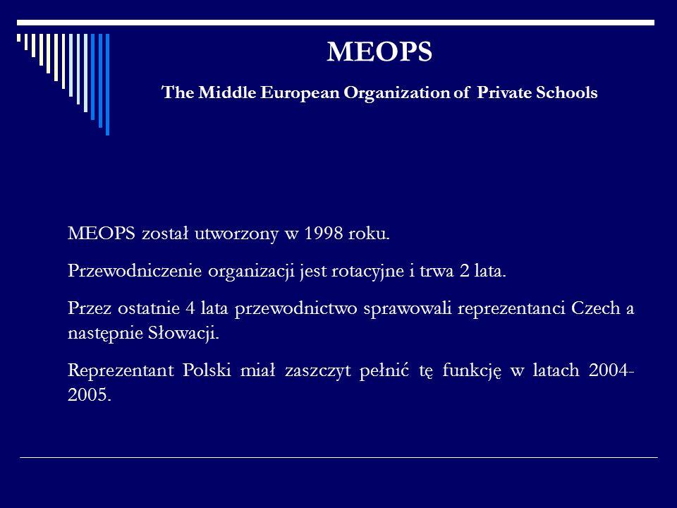 MEOPS został utworzony w 1998 roku. Przewodniczenie organizacji jest rotacyjne i trwa 2 lata. Przez ostatnie 4 lata przewodnictwo sprawowali reprezent