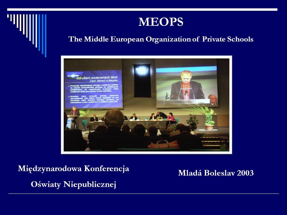 Mladá Boleslav 2003 MEOPS The Middle European Organization of Private Schools Międzynarodowa Konferencja Oświaty Niepublicznej