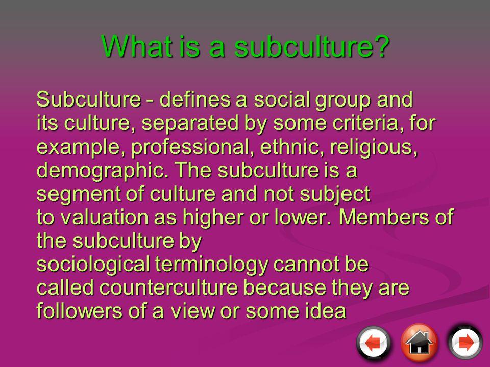 Co to jest SUBKULTURA .