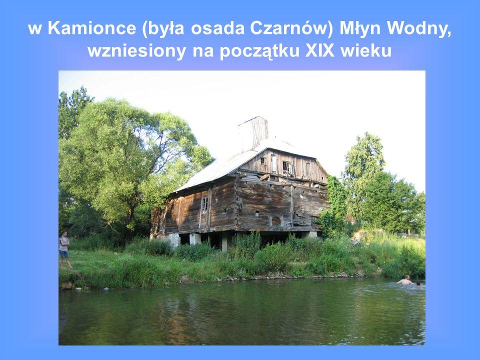 w Kamionce (była osada Czarnów) Młyn Wodny, wzniesiony na początku XIX wieku