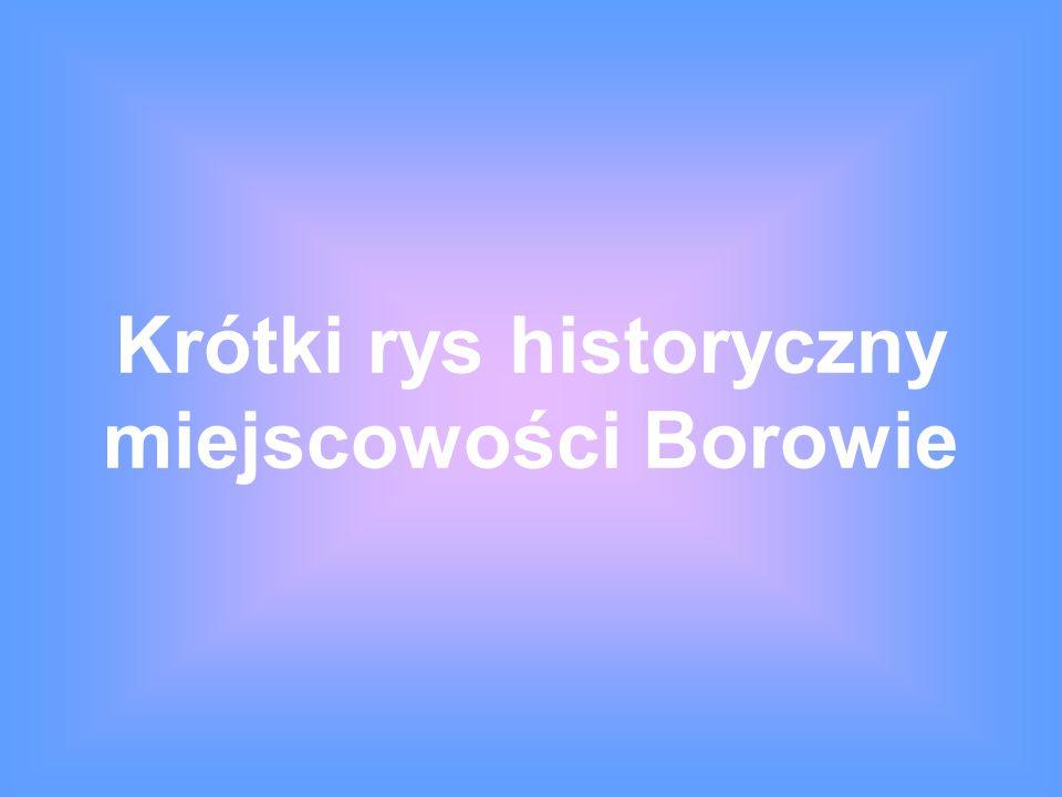 Krótki rys historyczny miejscowości Borowie