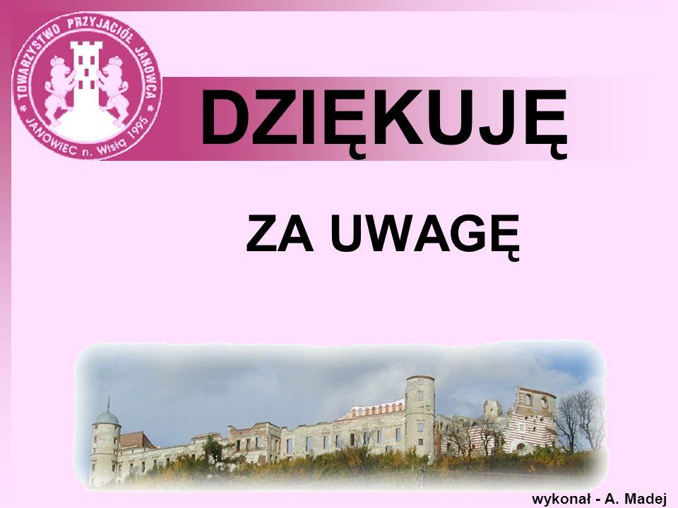 DZIĘKUJĘ ZA UWAGĘ wykonał - A. Madej