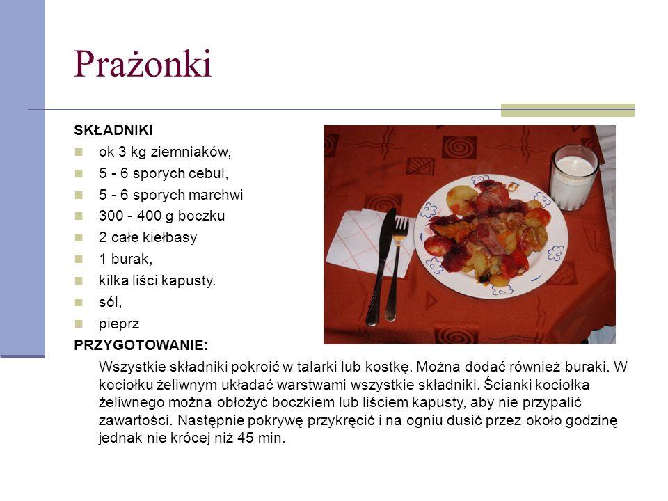 Żurek SKŁADNIKI: kawałek boczku lub wędzone żeberka kiełbasa 2 białe kiełbasy cebula czosnek liść laurowy, ziele angielskie, pieprz, majeranek żurek grzyb suszony lub pieczarki jajko PRZYGOTOWANIE: Bazę do żurku przygotuj gotując albo kawałek boczku albo kostki wędzone z dodatkiem ząbka czosnku, liścia laurowego, ziela angielskiego i pieprzu.