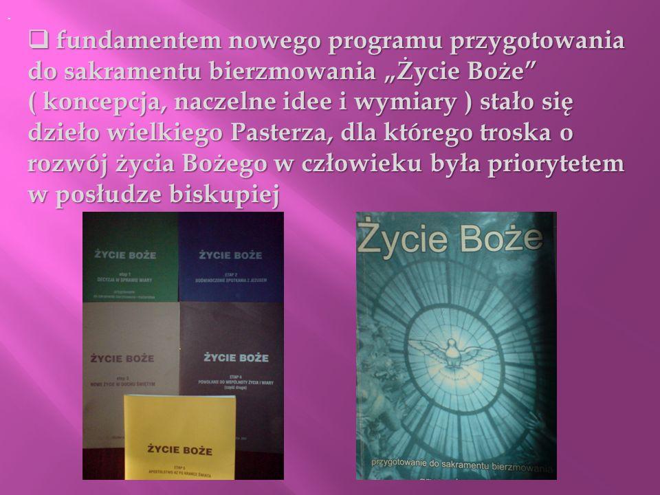 fundamentem nowego programu przygotowania do sakramentu bierzmowania Życie Boże fundamentem nowego programu przygotowania do sakramentu bierzmowania Ż