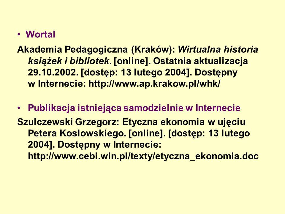 Wortal Akademia Pedagogiczna (Kraków): Wirtualna historia książek i bibliotek.