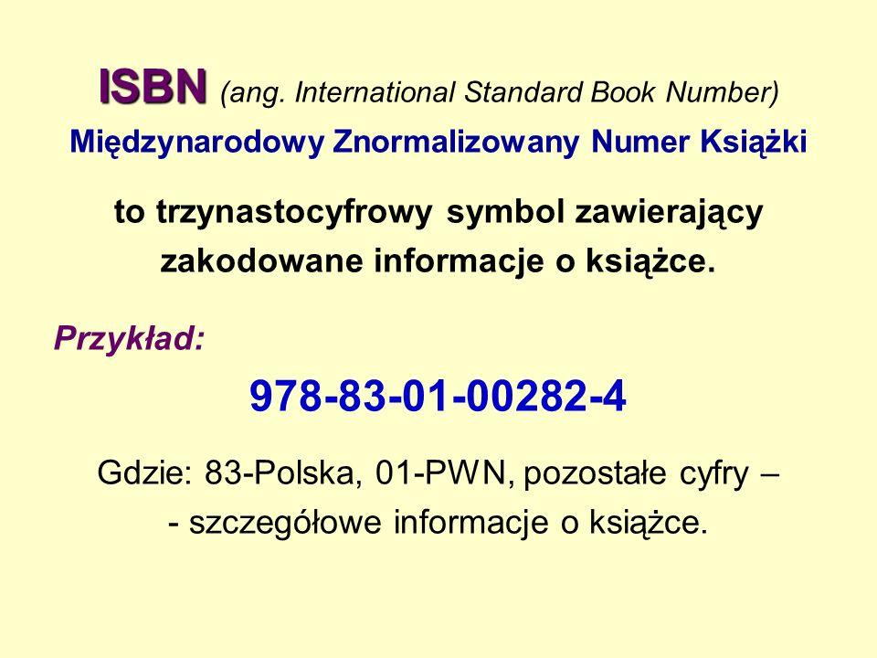 ISBN ISBN (ang.