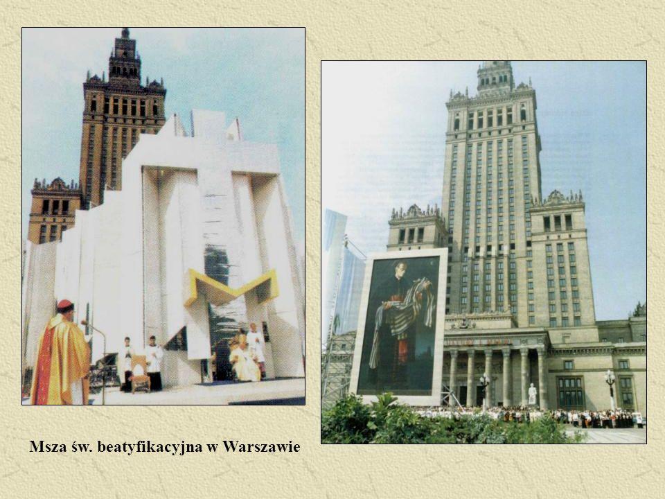 Msza św. beatyfikacyjna w Warszawie