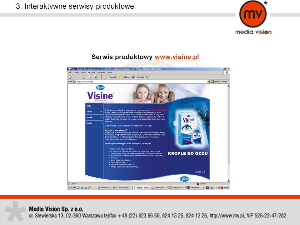 Serwis produktowy www.visine.plwww.visine.pl 3. Interaktywne serwisy produktowe