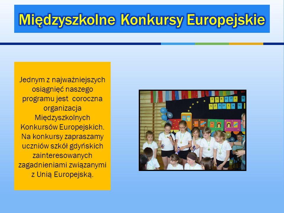 Jednym z najważniejszych osiągnięć naszego programu jest coroczna organizacja Międzyszkolnych Konkursów Europejskich. Na konkursy zapraszamy uczniów s